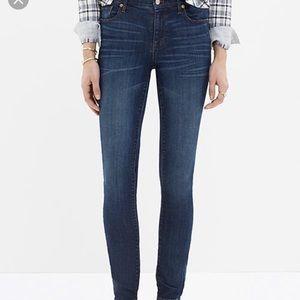 Madewell Blue High Riser Skinny Jeans Sz30